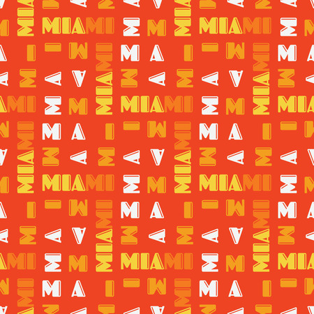 Miami seamless pattern. Creative design for various backgrounds.
