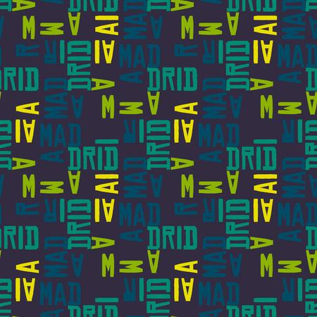 Madrid word pattern design