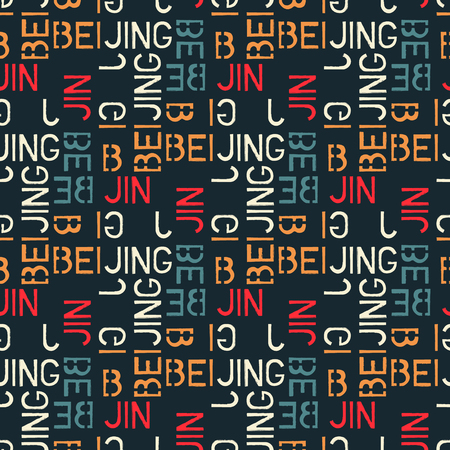 Beijing word pattern design Illustration