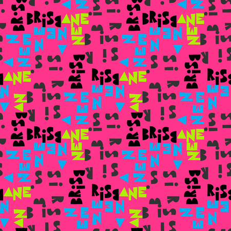 Brisbaine word pattern design