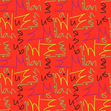 Milan word pattern design 矢量图像