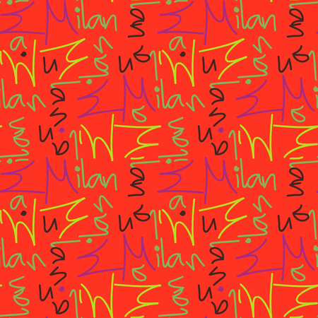 Milan word pattern design Иллюстрация