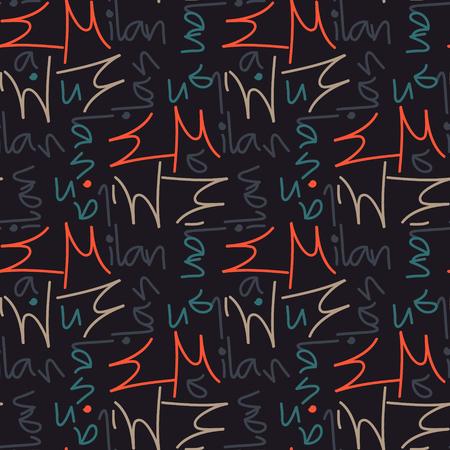 Milan word pattern design Vettoriali