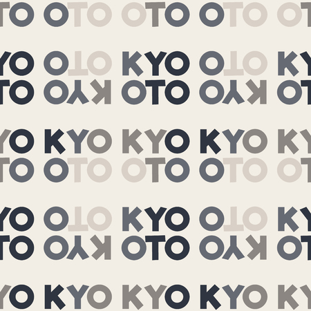 Kyoto word pattern design Illustration