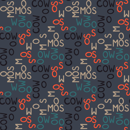Moscow word pattern design Illustration