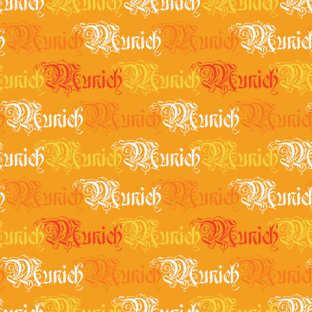 Munich word pattern design Illustration