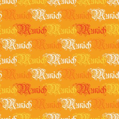 Munich word pattern design Stock Illustratie
