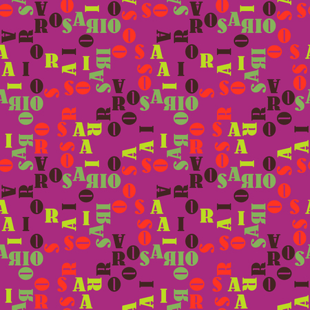 Rosario seamless pattern. Authentic artistic design for background. Illustration