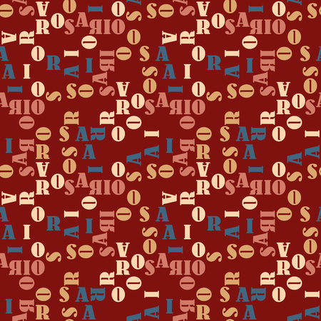 Rosario seamless pattern. Authentic artistic design for background.  イラスト・ベクター素材