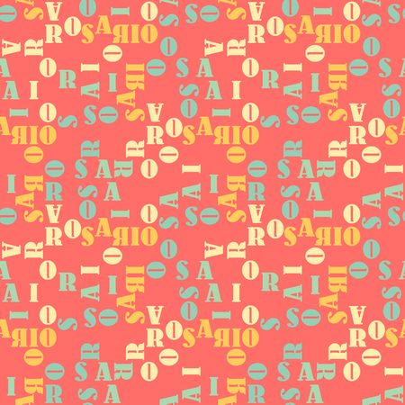 Rosario  seamless pattern. Autentic artistic design for background.