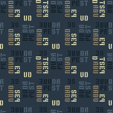 Budapest seamless pattern. Authentic artistic design for background. Illustration