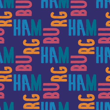 Hamburg seamless pattern. Authentic artistic design for background.