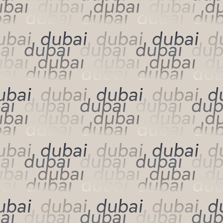 Dubai seamless pattern. Authentic artistic design for background. Ilustração