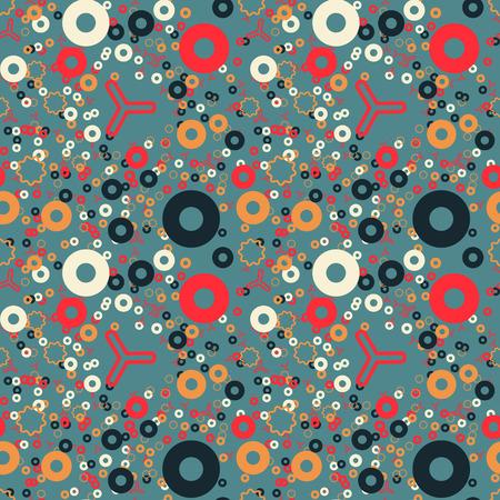 Eternal fraction creative pattern. Digital design for print, fabric, fashion or presentation. Illusztráció