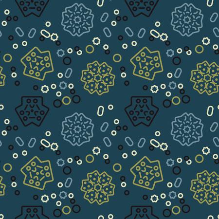 Wonderland plants seamless pattern. Autentic design for textile, print or digital.