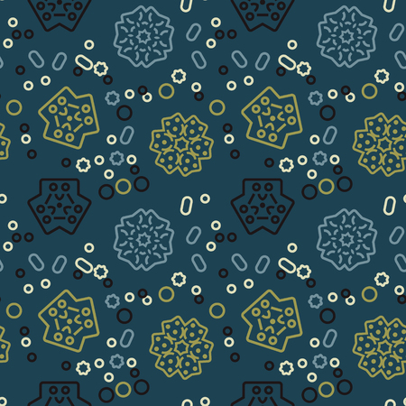 Wonderland plants seamless pattern. Autentic design for textile, print or digital.