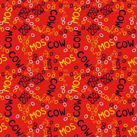 Moscow  creative pattern. Digital design for print, fabric, fashion or presentation. Illustration