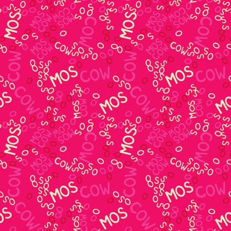 Moscow creative pattern. Digital design for print, fabric, fashion or presentation.