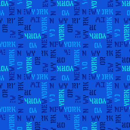 New York  seamless pattern. Creative design for various backgrounds. Illustration