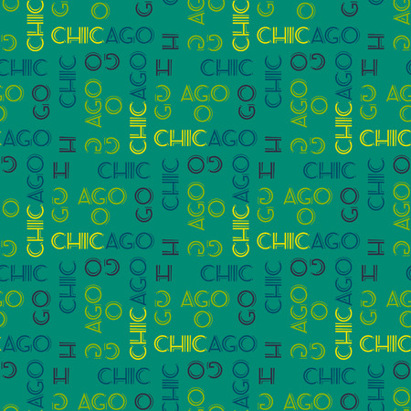 Chicago seamless pattern. Creative design for various backgrounds. Stock Vector - 96404530