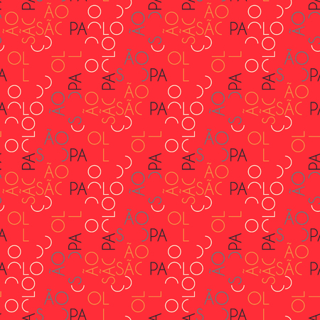 S o Paulo seamless pattern. Autentic artistic design for background.