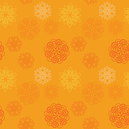 Snowflake different seamless pattern. Suitable for screen, print and other media. 版權商用圖片 - 96807258