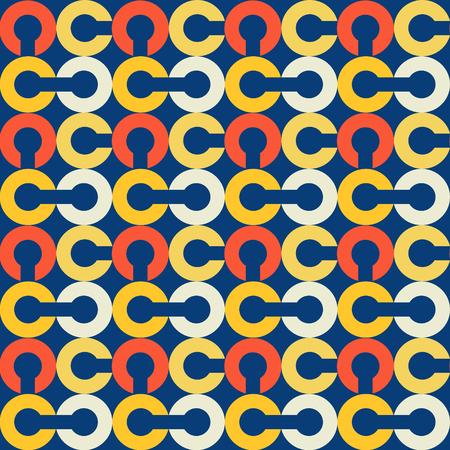 Link chain block seamless pattern. Suitable for screen, print and other media. 向量圖像