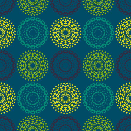 Path of endeavour symmetry seamless pattern. Suitable for screen, print and other media.