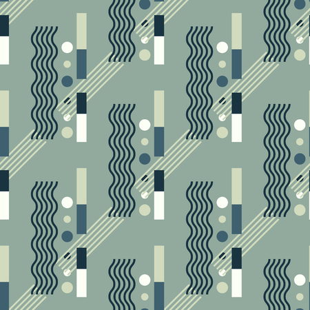 Vertical wave flow seamless pattern. Suitable for screen, print and other media. 向量圖像