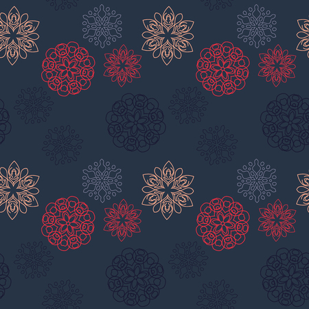Snowflake different seamless pattern. Suitable for screen, print and other media.