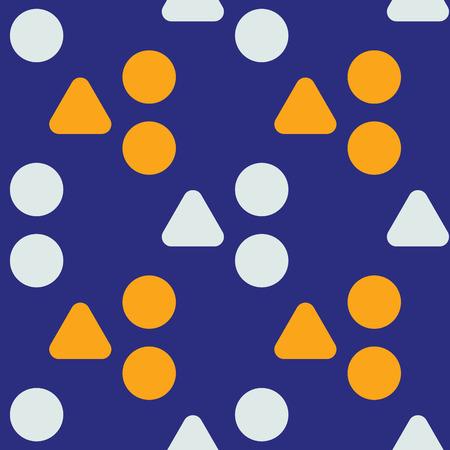 Uneven hills seamless pattern. Strict line geometric pattern Vector illustration.