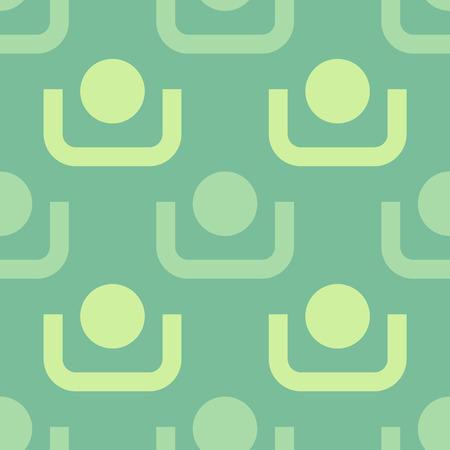 Punkte und Linien Bild mit grüner Illustration Standard-Bild - 97128705