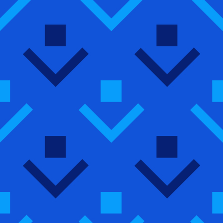 Square and lines image with blue illustration