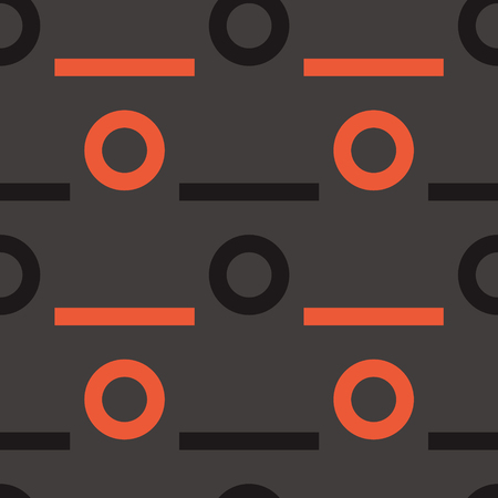 Wheel drive seamless pattern. Strict line geometric pattern for your design. 向量圖像