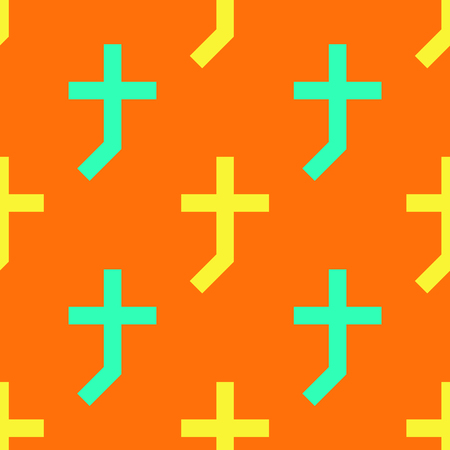 Cross shade seamless pattern. Strict line geometric pattern for your design.  イラスト・ベクター素材