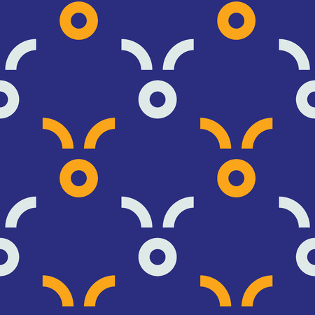 Funky fruit seamless pattern. Strict line geometric pattern for your design.