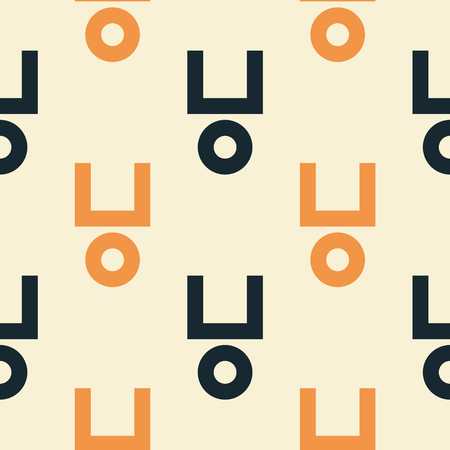 Half square and circle seamless pattern. Strict line geometric pattern for your design.