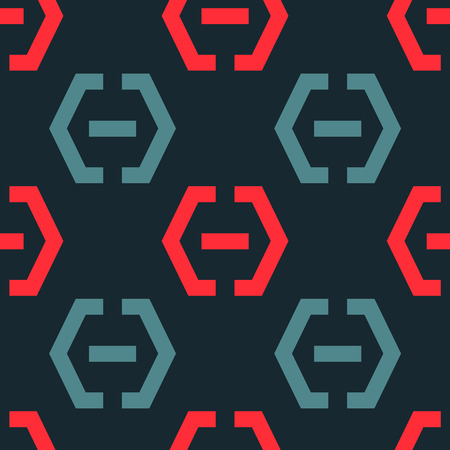 Locker fixed seamless pattern. Strict line geometric pattern for your design.  イラスト・ベクター素材