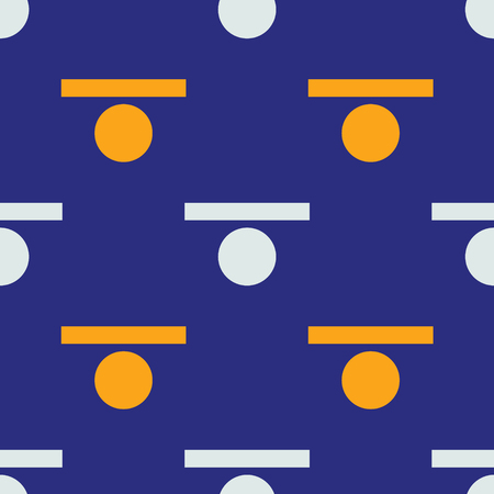 Rectangle and circle seamless pattern. Strict line geometric pattern for your design. Illustration