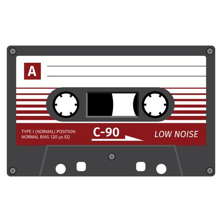 Old fashion cassette tape design, retro technology illustration.