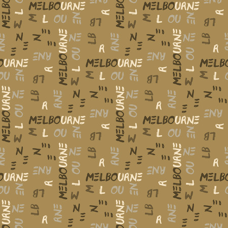 Melbourne seamless pattern. Creative design for various backgrounds.