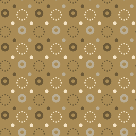 Flashy circle seamless pattern. Autentic design for textile, print or digital.