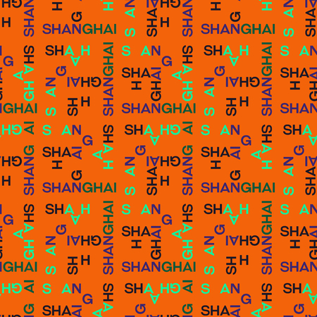 Shanghai seamless pattern. Creative design for various backgrounds.