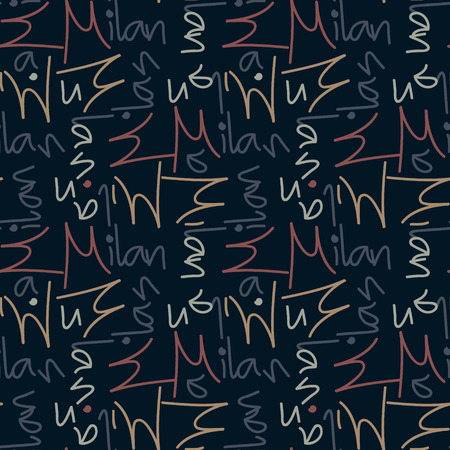 Milan seamless pattern. Autentic artistic design for background.