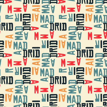 Madrid seamless pattern. Creative design for various backgrounds.