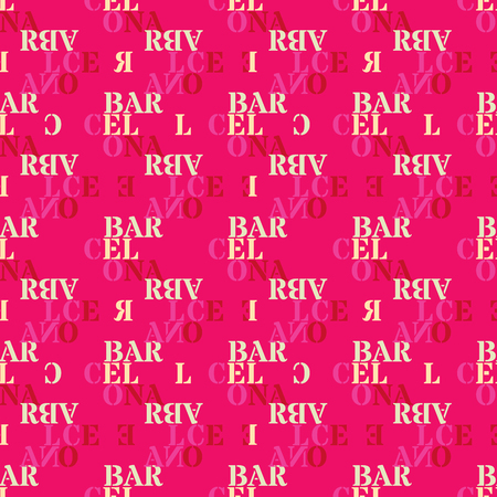 Barcelona seamless pattern. Authentic artistic design for background.