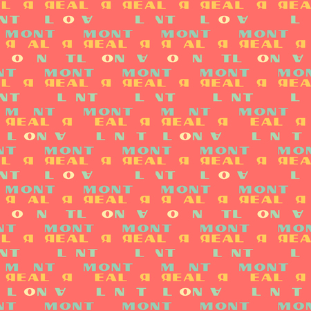 Montreal  seamless pattern. Autentic artistic design for background.