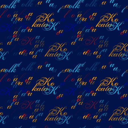 Kolkata seamless pattern. Autentic artistic design for background.