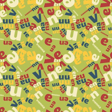 Vienna creative pattern. Digital design for print, fabric, fashion or presentation.