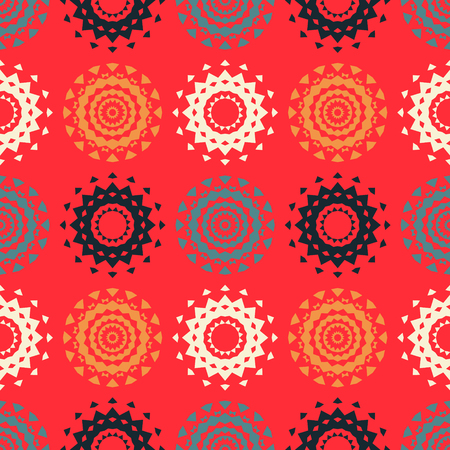 Circle symmetry different seamless pattern. Suitable for screen, print and other media. 일러스트